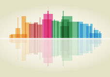 Colorful panorama city Royalty Free Stock Photo
