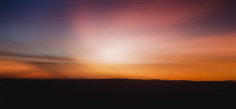 Colorful panorama sky during sunrise and sunset in a summer morning. Royalty Free Stock Image