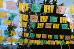 Papel Picado in San Cristobal de las Casas Chiapas Mexico. Colorful papel picado for Dia de los muertos, the typical decoration in mexico to celebrate this day royalty free stock photos