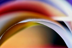 Colorful paper abstract. Slieces of coloured paper close-up Royalty Free Stock Photos