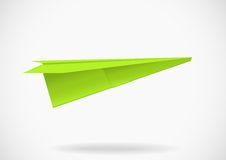 Colorful paper airplane Stock Photos