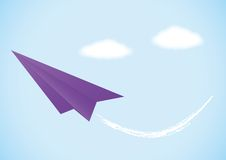 Colorful paper airplanes set Royalty Free Stock Photography