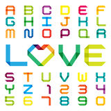 Colorful paper alphabet Stock Photography