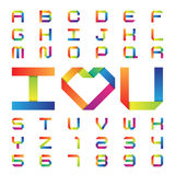 Colorful paper alphabet Royalty Free Stock Images