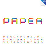 Colorful paper alphabet Royalty Free Stock Photography