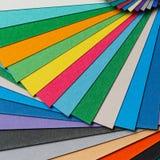 Colorful paper arrangement Stock Photos