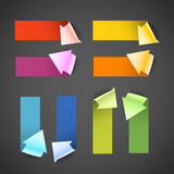 Colorful paper arrow banners Stock Photo