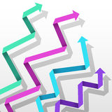 Colorful paper arrows Royalty Free Stock Photos