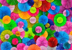 Colorful paper background. Colorful circle pleat paper background Royalty Free Stock Photography