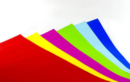 Colorful paper background. And education Stock Photography