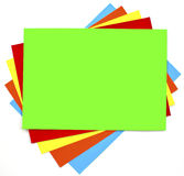 Colorful paper background set Stock Image