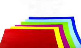 Colorful paper background. Colorful paper white  background and izole Stock Photography