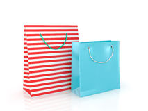Colorful paper bags for shopping Stock Photography