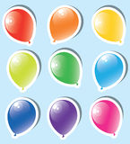Colorful paper balloons Stock Images