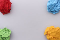 Colorful paper balls in corners Royalty Free Stock Photography