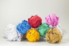 Colorful paper balls selective focus with shallow depth of field Royalty Free Stock Photography