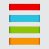 Colorful Paper Banner Stock Photos