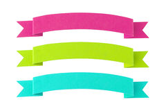 Colorful paper banners Stock Images