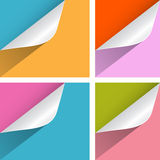 Colorful Paper Bent Corners Royalty Free Stock Photos