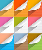 Colorful Paper Bent Corners Illustration Set Royalty Free Stock Photography
