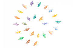 Colorful paper birds Stock Image