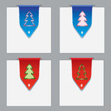 Colorful paper bookmarks with christmas theme Stock Photography