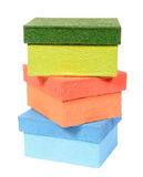 Colorful paper box isolated Stock Image