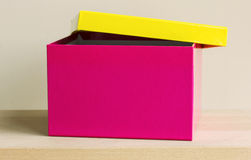 Colorful paper box on table Royalty Free Stock Image