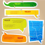 Colorful paper bubble. For speech royalty free illustration