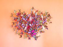 Colorful paper butterflies Royalty Free Stock Images