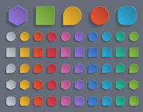 Colorful paper buttons. Stock Photos