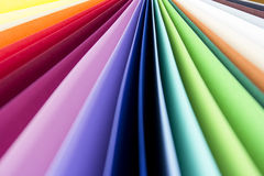 Colorful paper card stock Stock Photo