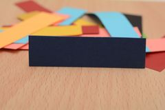 Colorful Paper Cards with Copy space. Can you used in promotion banners Royalty Free Stock Photos