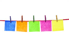 Colorful paper cards Stock Photo
