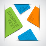 colorful paper cards with place for your text Royalty Free Stock Images