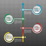 Colorful paper circle with time line arrow for website presentation cover poster  design infographic illustration concept. 1 Royalty Free Stock Image