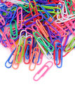 Colorful paper clip Stock Photography