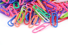 Colorful paper clip Stock Images