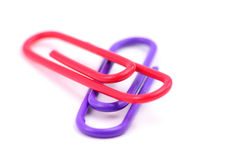 Colorful paper clip Stock Photo