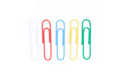 Colorful paper clip Royalty Free Stock Images