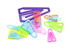 Colorful paper-clips Stock Image