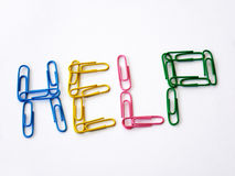 Colorful paper clips Stock Photo