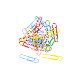 Colorful paper clips Stock Images