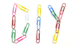 Colorful paper clips Royalty Free Stock Photos