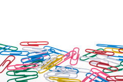Colorful paper clips Stock Image
