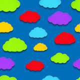 Colorful paper clouds Stock Image