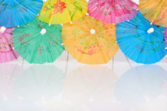 Colorful paper cocktail umbrella Royalty Free Stock Photos