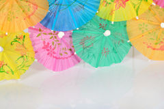 Colorful paper cocktail umbrella Stock Photo