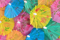 Colorful paper cocktail umbrella close-up Stock Photography