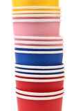 Colorful paper coffee cup. Royalty Free Stock Images